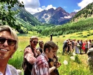 Bluegrass Band for an outdoor wedding near Aspen